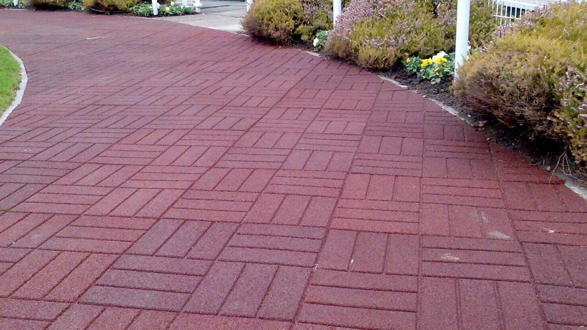 Brick Effect Rubber Tile Quattro Products